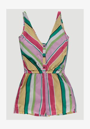 JUMPSUITS SUMMER PLAYSUIT - Jumpsuit - white aop w/ pink or purple