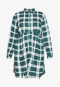 CAPSULE by Simply Be - BUTTON THRU SMOCK DRESS - Shirt dress - dark green/white - 5