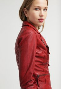 Oakwood - CAMERA - Leather jacket - red - 4