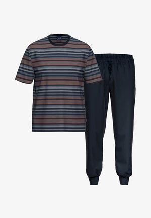 2 SET - Pyjama - dunkelblau / blau gestreift