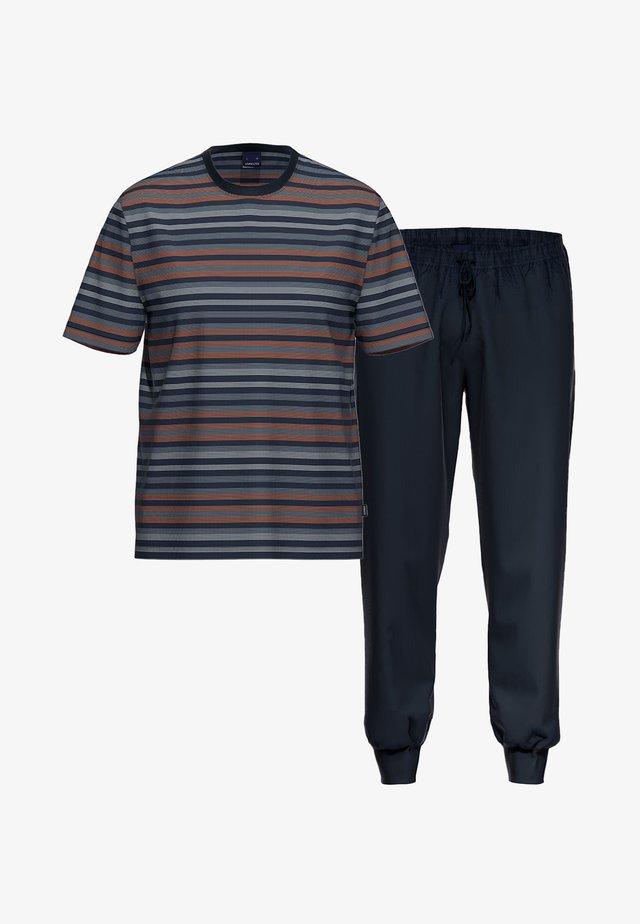 2 SET - Pyjama set - dunkelblau / blau gestreift
