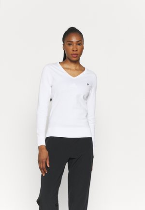 CLASSIC V NECK - Long sleeved top - white