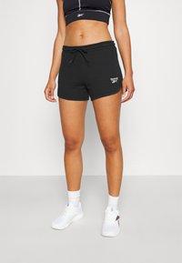 Reebok - FRENCH TERRY SHORT - Pantalón corto de deporte - black - 0