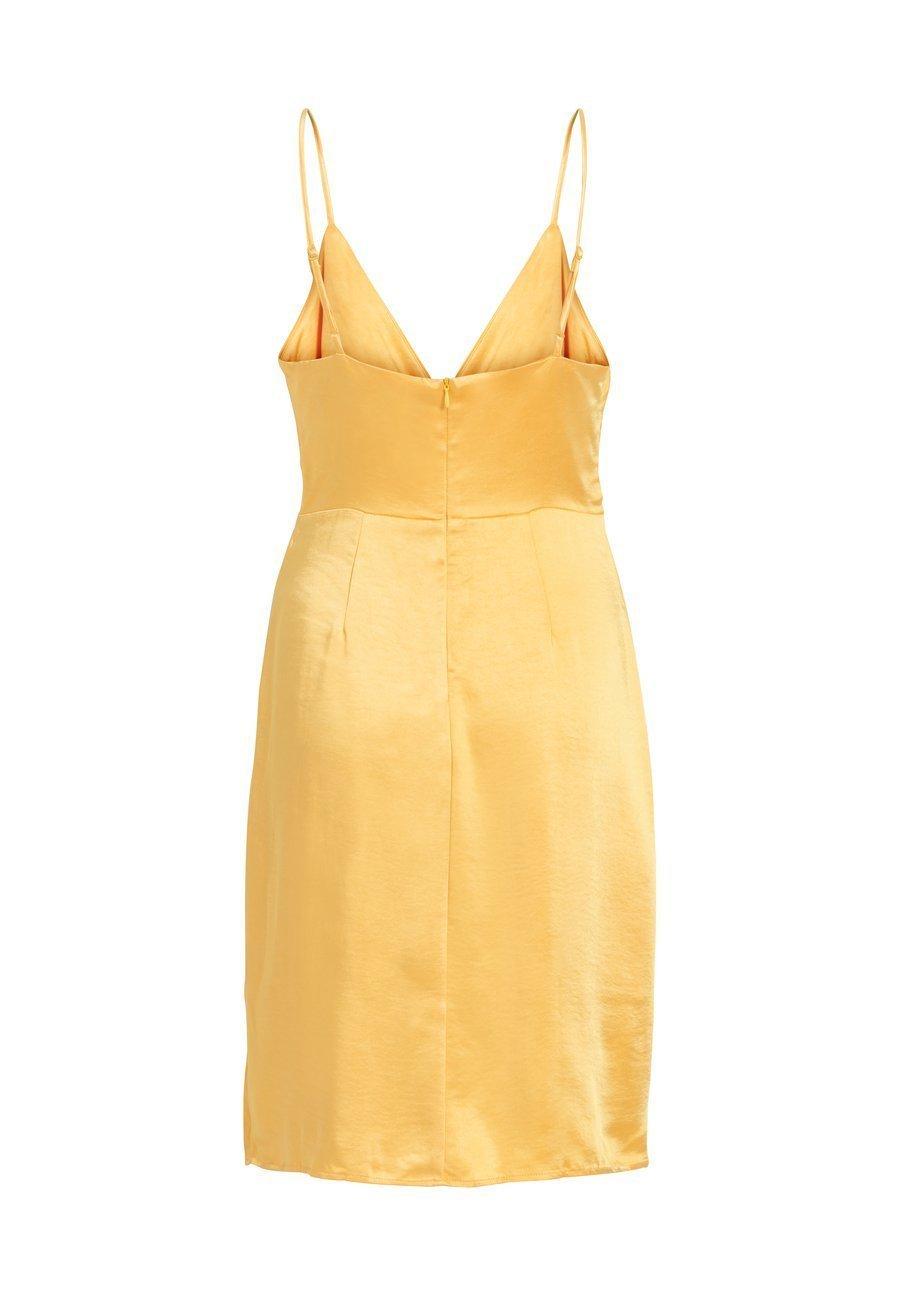 Vila Cocktailkleid/festliches Kleid samoan sun/hellgelbmeliert