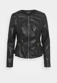 ONLJENNY JACKET - Faux leather jacket - black