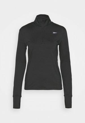 RUN 1/4 ZIP - Bluzka z długim rękawem - black