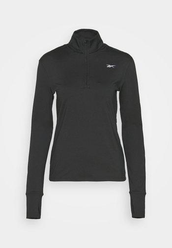 RUN 1/4 ZIP - Long sleeved top - black