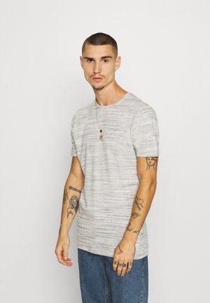ALBERTO - Print T-shirt - ecru/ black