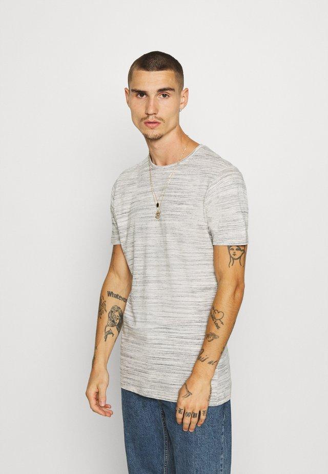 ALBERTO - T-shirt print - ecru/ black