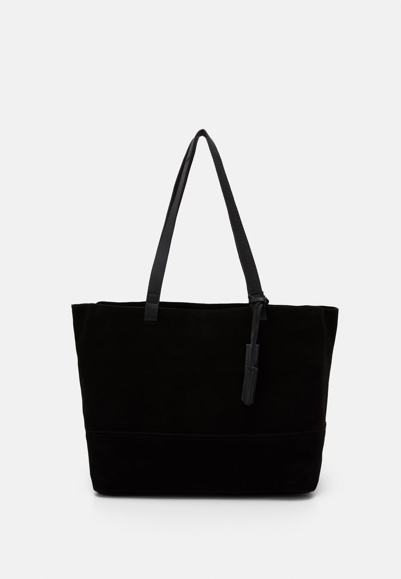 Zign - LEATHER - Tote bag - black