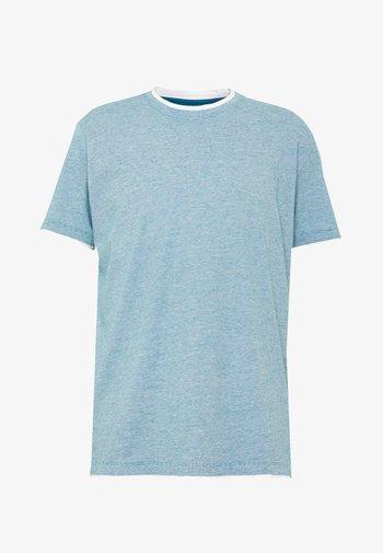 Print T-shirt - petrol blue