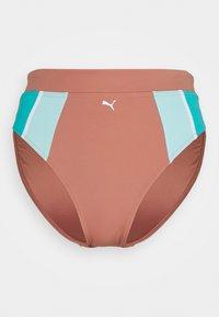 Puma - SWIM WOMEN HIGH WAIST BRIEF - Bikini bottoms - brown - 0