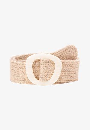 Braided belt - beige