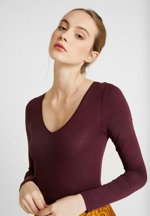 BODYSUIT BASIC - Long sleeved top - winetasting