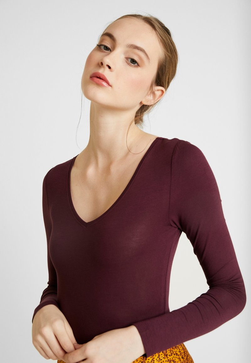 Even&Odd - BODYSUIT BASIC - Long sleeved top - winetasting