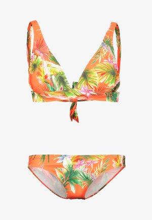 TROPIC LOW RISE BRIEF SET - Bikini - orange