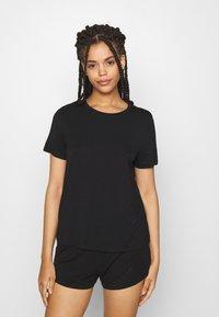 Anna Field - Basic short set - Pyjama set - black - 0
