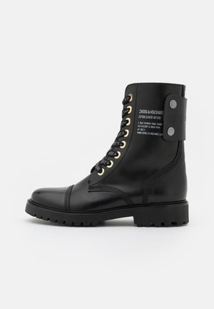 JOE SMOOTH  - Lace-up ankle boots - noir