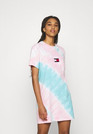 TIE DYE TEE DRESS - Jersey dress - blue