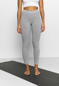 Deha - LEGGINGS - Medias - grey melange - 0