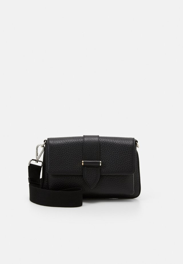 GLORIA DOUBLE BAG - Axelremsväska - black