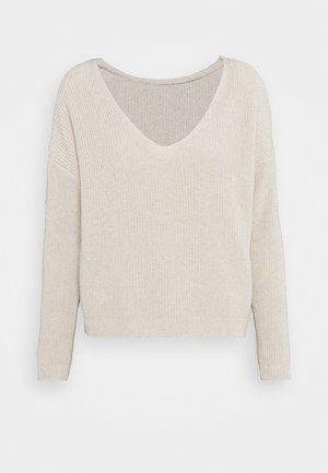 ONLBRYNN LIFE VNECK - Pullover - pumice stone
