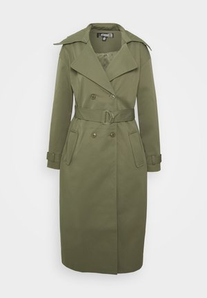 LONG LINE D RING BELT - Trenchcoat - khaki