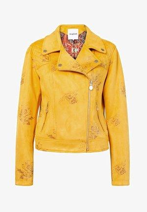 CHAQ DELAWARE - Chaqueta de cuero sintético - yellow