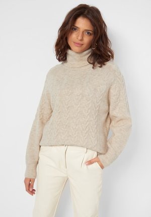 Jumper - metallic brown