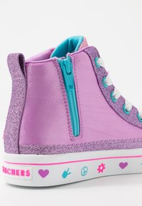 Skechers - FLIP-KICKS LOVE REVERSIBLE SEQUINS - High-top trainers - lavender durasatin/multicolor sparkle - 6