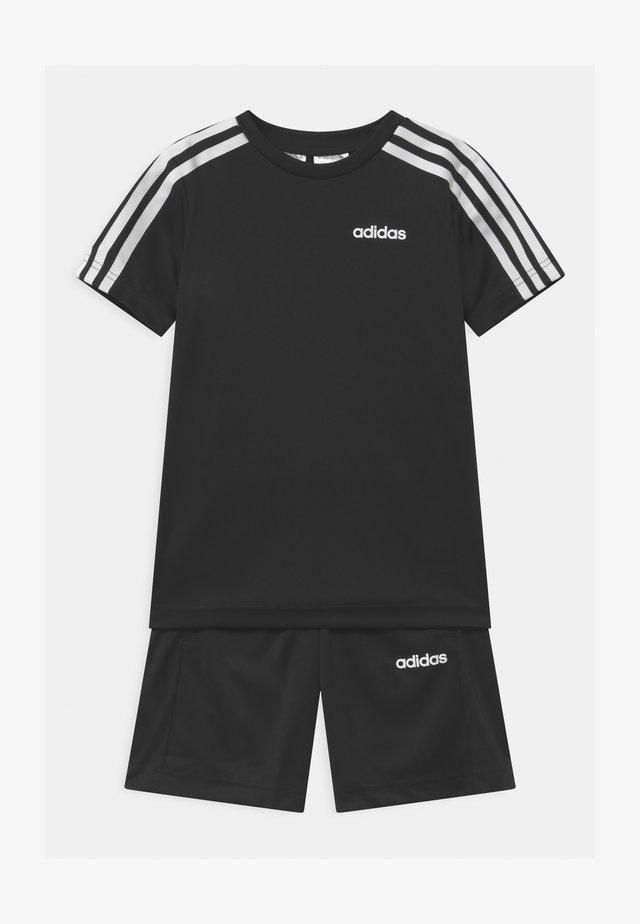 SET UNISEX - Träningsshorts - black/white