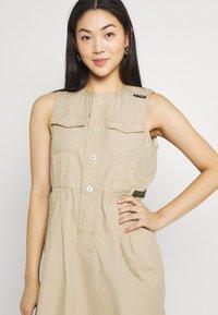 G-Star - FIT AND FLARE DRESS - Day dress - westpoint khaki - 3