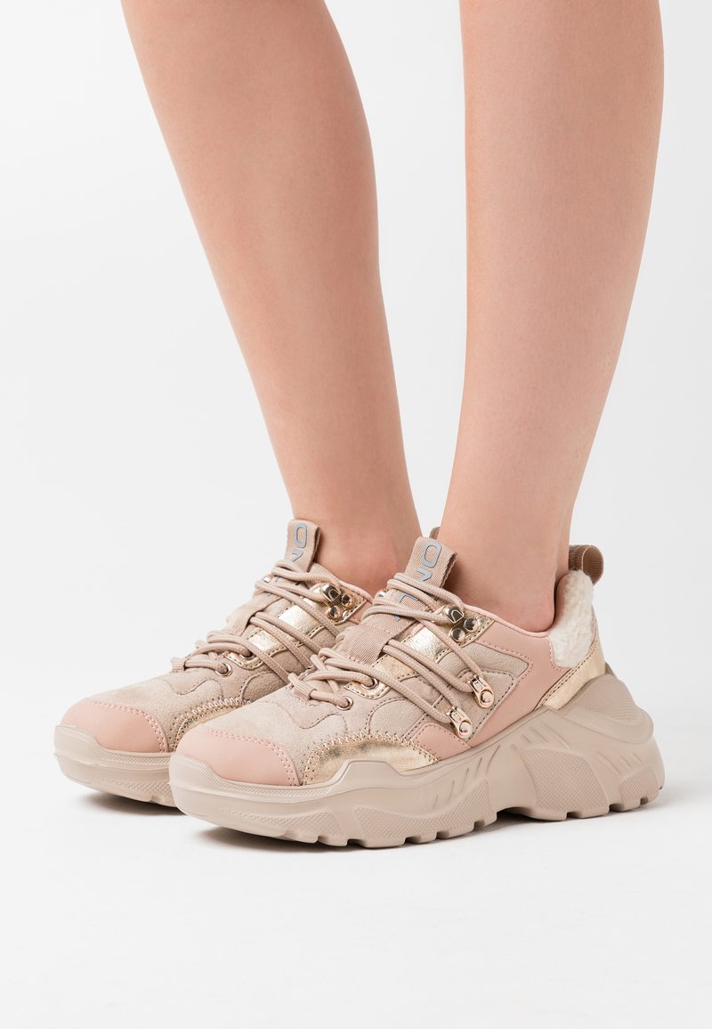 ONLY SHOES - ONLSILVA CHUNKY - Trainers - rose