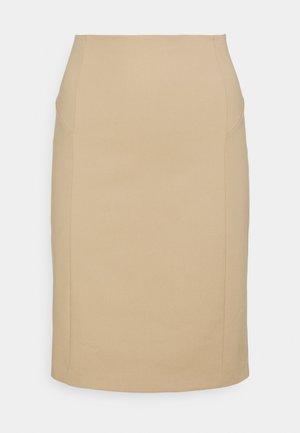 GONNA SKIRT - Pouzdrová sukně - triking beige