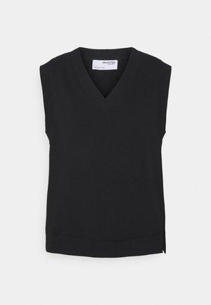 SLFRISMA VEST - Sweatshirt - black