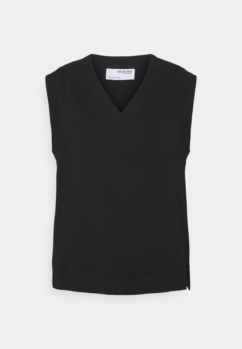 Selected Femme - SLFRISMA VEST - Sweatshirt - black