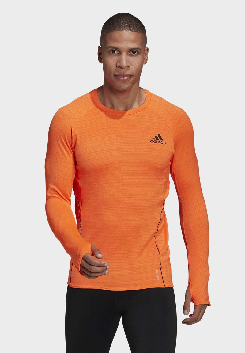 adidas Performance - RUNNER LONG-SLEEVE TOP - Long sleeved top - orange