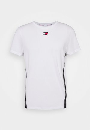 TAPE  - T-shirt z nadrukiem - white