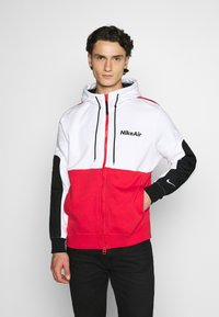 Nike Sportswear - Sudadera con cremallera - white/university red/black - 0