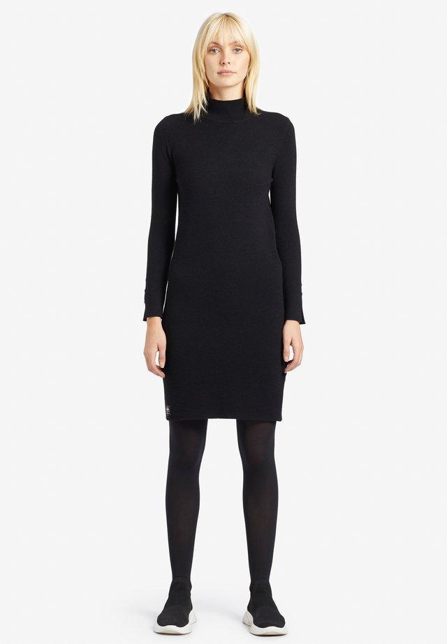 SAJA - Gebreide jurk - black