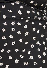 Fashion Union Plus - WRAP TOP - Bluser - black/white - 4