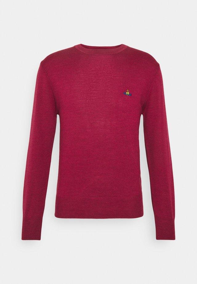 CLASSIC ROUND NECK - Jumper - dark red