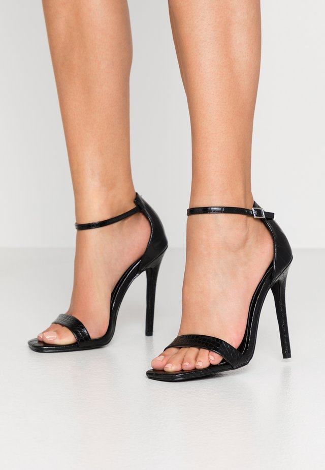 ALARA - High heeled sandals - black