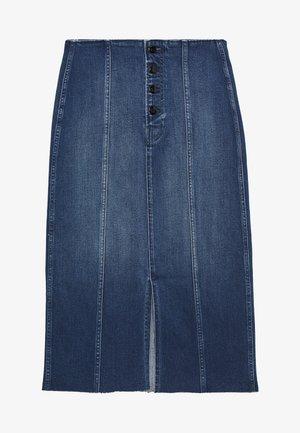 LONG SKIRT SAFF - Pouzdrová sukně - blue