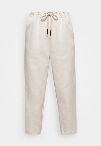 ORGANIC PEARL CORD STOPPER - Tracksuit bottoms - oatmeal
