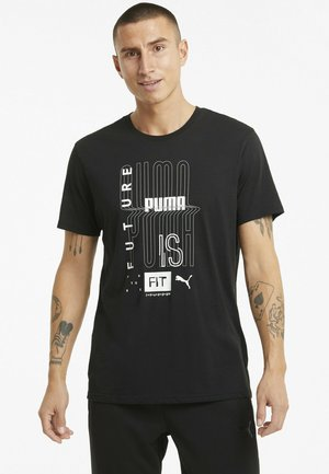 GRAPHIC  - Print T-shirt - puma black