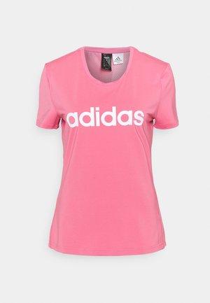 TEE - Print T-shirt - rose tone/white