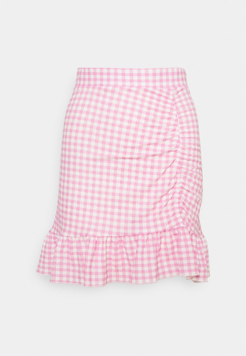 Gina Tricot - ANNIE SKIRT - Mini skirts  - pink