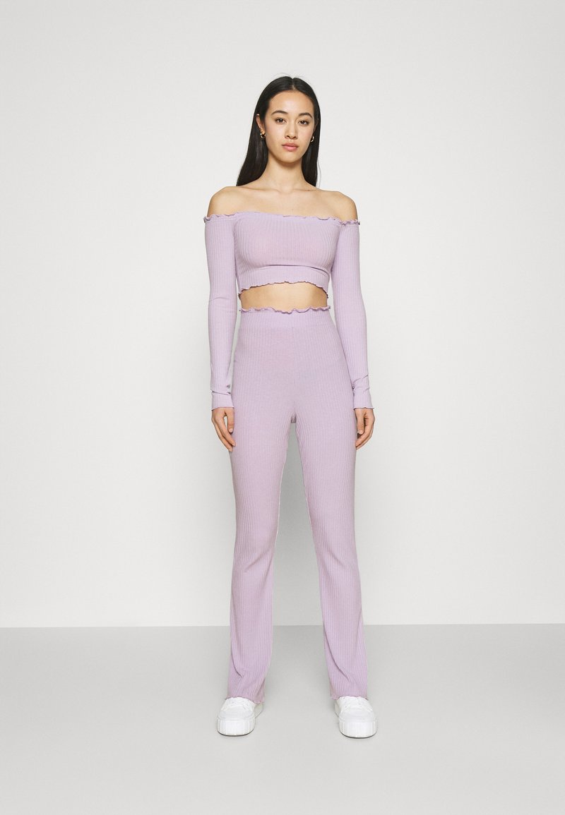 Nly by Nelly - OFF SHOULDER SET - Trousers - light purple