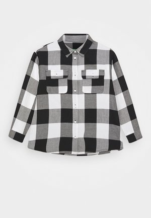 KEITH KISS GIRL  - Button-down blouse - black white